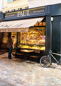 Breakfast to-go at Paul Bakery & Café