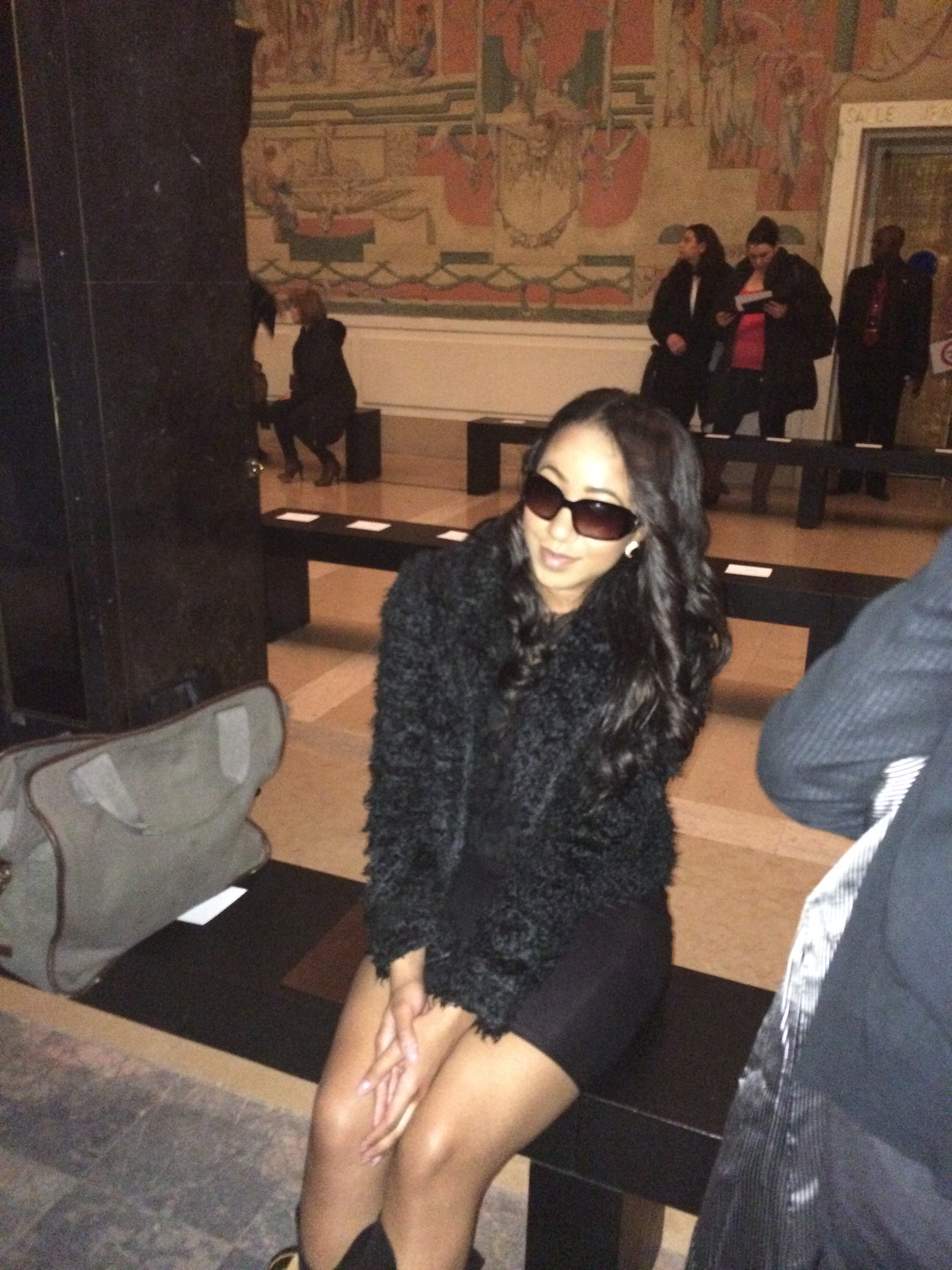 Waiting for the Paris Fashion Week Show to start