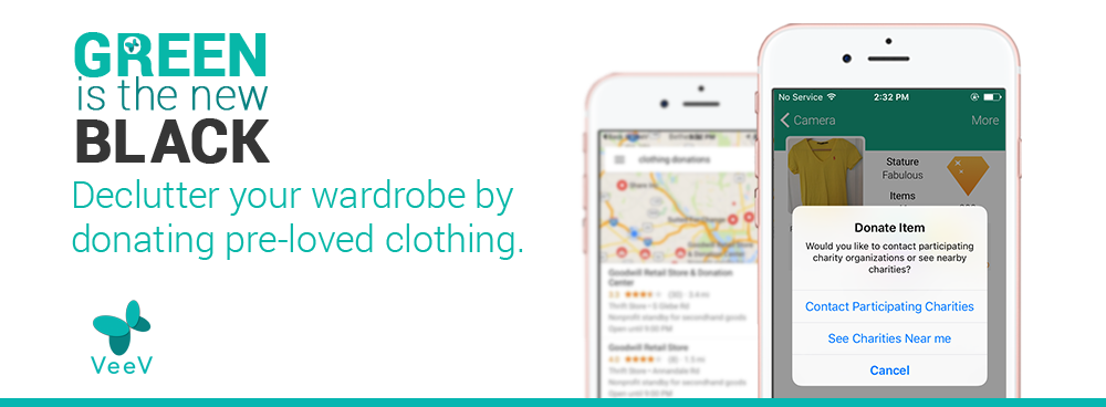 Donate: find your nearest donation/charity center. This is a great way to declutter your wardrobe, and at the same time do your part for the environment by keeping usable items out of the landfill.