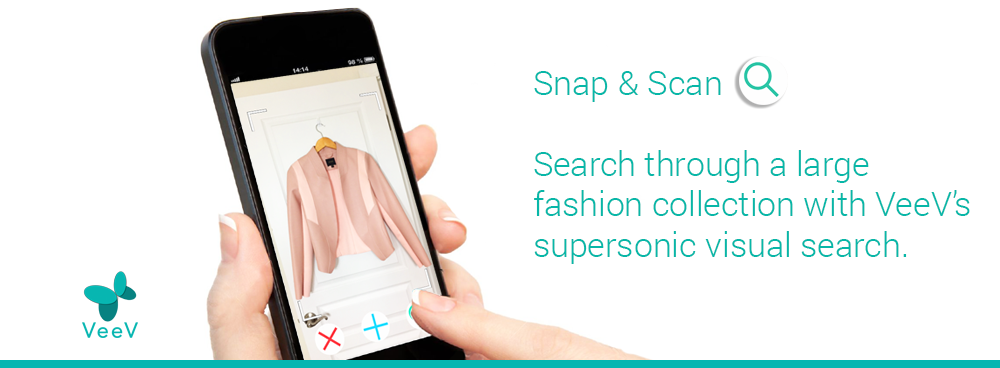 Use VeeV's supersonic visual search to look for items in a large fashion collection.