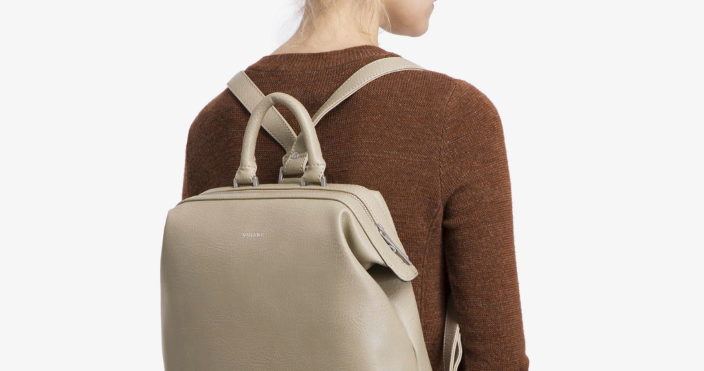 VeeV Blog | 4 ways to go vegan with your bags for Green Fashion: Countless brands provide large backpacks that can hold chargers, water bottles, maps, etc. but also can look cute with your outfit.