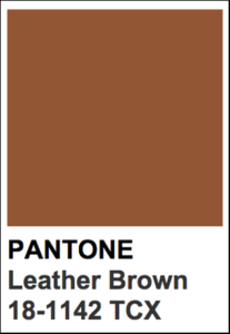 Pantone color Leather Brown.